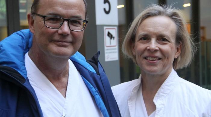 """Louise Laurell och barnakutens sektionschef överläkare Percy Nilsson Wimar har stora förhoppningar om att barnskyddsteam ska etableras i Skåne med """"Center of excellence"""" placerat på SUS. En liknande organisation är på gång i Jönköping och etablering av barnskyddsteam pågår även i Linköping. I Göteborg började man för ett år sedan och Uppsala har det varit igång sedan 2012. Astrid Lindgrens barnsjukhus i Stockholm var först med att etablera barnskyddsteam 2011."""
