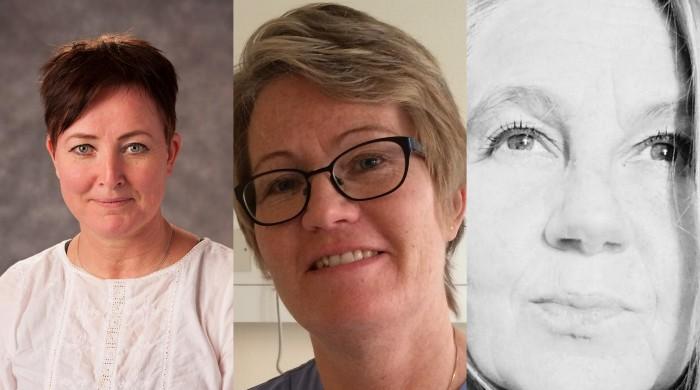 Agneta Lenander, Charlotta Dickman och Päivi Vilkkavaara.