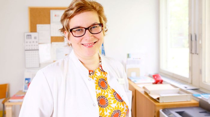 Finska läkarförbundets ordförande Marjo Parkkila-Harju ser fördelar med tjänstgöring i primärvården under ST-utbildningen, men tycker nio månader är något långt. Foto: Mikko Käkelä