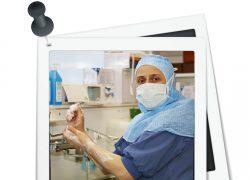Natalia Anissimova visste redan som barn att hon ville bli kirurg. Sedan tio år tillbaka arbetar hon på Lycksele lasarett och uppskattar möjligheten att kunna påverka verksamheten. Foto: Marcus 3dfoto.se