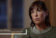 Karin Båtelson i Agenda. Skärmdump från svt.se.