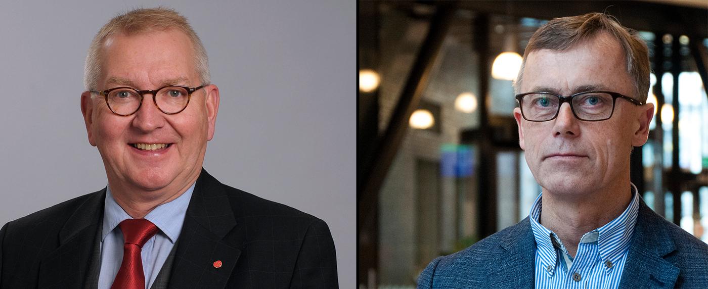 Jan-Olov Häggström (S), vice regionråd i Landstinget Västernorrland, och Sven Oredsson, medicinsk rådgivare vid avdelningen för hälso- och sjukvårdsstyrning i Region Skåne.