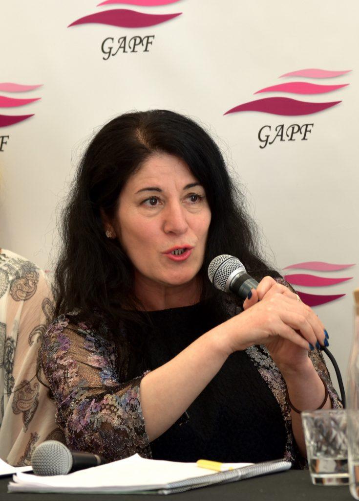 Sara Mohammad, ordförande i GAPF. Foto: Anna Sofia Dahl